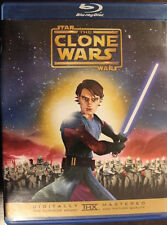 CLONE WARS BLURAY VERY RARE AMERICAN COVER OOP DELETED DVD STAR WARS ANIMATION