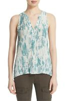 * NWT, Joie 'Aruna' Sleeveless Print Silk Top, Size Medium - Blue $158