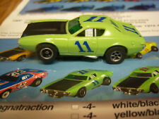 AFX/Aurora Collectors L@@K Rare Dodge Charger Green & blue #11's  Model Motoring
