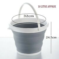 COLLAPSIBLE FOLDING PLASTIC SILICON BUCKET KITCHEN CAMPING GARDEN WATER BUCKET