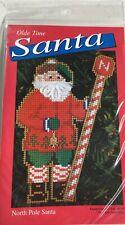 "New listing Olde Time Santa ""North Pole Santa"" Cross Stitch Kit"