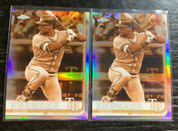 Kevin Kiermaier 2019 Topps Chrome #180 Sepia Refactor Lot(2) Tampa Bay Rays