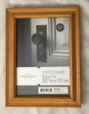 "Threshold Brown Wood 6.5X8.5"" Frame Holds 5X7"" Photo"
