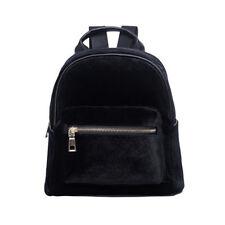Women Velvet Mini Backpack Girls School Bags Small Travel Handbag Shoulder Bag