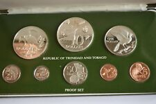 More details for 1976 trinidad and tobago proof set coa including 2 sterling silver