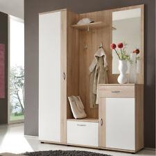 Garderobe Set Garderobenkombination Flurgarderobe Patent Eiche weiß