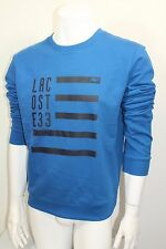 Lacoste 33 Men's Crew Sweater Shirt Long Sleeve Color Blue Sz 4=Small NWT