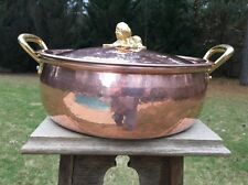 "*NEW* 14"" Ruffoni Copper 6.4 Qt Historia Decor Brazier Caserole Pot Pan W/Lid"