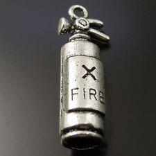 37134 Antiqued Silver Tone Vintage Fire Stop Extinguisher Charms Pendant 40pcs