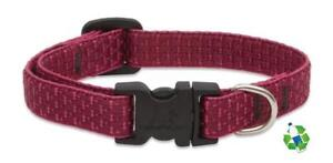 "NEW Berry Red Dog Collar or Leash in 1/2"", 3/4"" or 1"" by Lupine Eco (Recycled)"