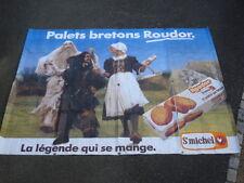 Publicité affiche 4x3m St michel palets bretons ROUDOR Vintage années 70