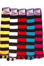 Ladies Quality Long Striped Toe socks