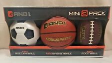 New And 1 Mini 3 Pack Socer Ball, BasketBall, And Football