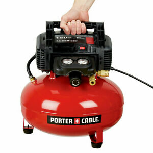 Porter-Cable C2002R 0.8 HP 6 Gallon Oil-Free Pancake Air Compressor Refurbished