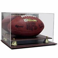 SAF-T-GARD FULL SIZE NFL FOOTBALL LEATHER BASE ACRYLIC DISPLAY CASE AS0418