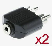 2x Adaptateur Jack 3,5mm femelle vers 2x RCA male / Jack Adapter to 2x RCA male