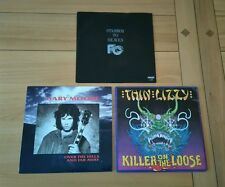 """Hard Rock Job Lot 3x UK 7"""" Far Corporation Gary Moore Thin Lizzy Picture Sleeves"""