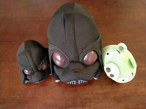 "Rovio Angry Birds Star Wars Darth Vader Pig 8"" + 5"" + Green Pig Plush Soft Toys"