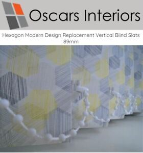 """Hexagon Patterned Welded Made to Measure Replacement Vertical Blind Slats 3.5"""""""