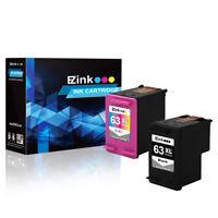 2P 63XL 63 XL Black & Color Ink Set for HP ENVY 4520 4526 & More w/