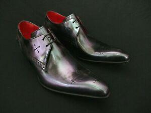JEFFERY-WEST Rainbow Metallic ROCHESTER 'Sharp' Lace Up Winklepicker Shoe UK 8