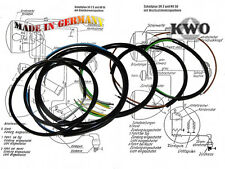 Simson Mazo de cables SR1, SR2, SR2E - negro - KWO - CICLOMOTOR - NUEVO