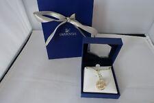 Genuine Swarovski gold circle ball globe Necklace Pendant Christmas birthday £99