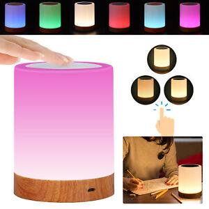 Touch Night Light USB Rechargeable LED Bedside Table Mood Lighting Lamp Dimmable