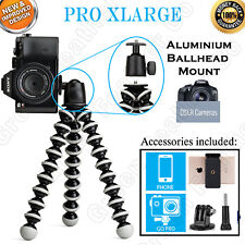 PRO XLARGE Flexible Octopus Tripod | Ballhead Mount | 10x Support | DSLR zoom