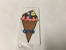 Number Word Match 0-10 - Ice Cream Cone  Teaching Supplies MATH
