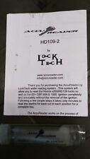 Locksmith Accu Reader Honda Hd-109 Lishi Tools Honda Key J00-U99 X265