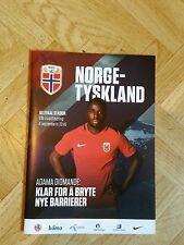 Programm Länderspiel Norwegen - Deutschland in Oslo