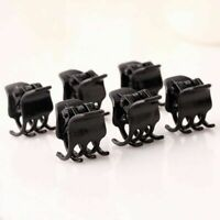 Girl's Fashion Black Plastic Mini Hairpin 6 Claws Hair Clip Clamp For Ladie I9O8