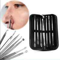 Bend Curved Facial Extractor Blackhead Acne Blemish Remover Tweezer Needle Tool~