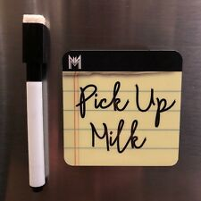 Dry Erase Board Magnet- Magnetic Notepad with Magnetic Dry Erase Marker & Eraser