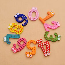 10 X Kids Educational Letters Alphabet Number Wooden Sticker Fridge Magnet