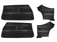 1969 CHEVELLE COUPE DOOR PANELS FRONT AND REAR SET IN BLACK J-6650 (In Stock)