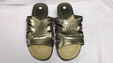 NEW Womens Shoes Size 11 Brown Gold Sandals Ladies Flip Flops Foot Wear Slides