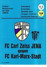 OL 89/90 FC Carl Zeiss Jena-FC Karl-Marx-Stadt (RS-B)