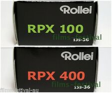 4 rolls Rollei RPX 100 and 400 Black and White Film 35mm 36exp