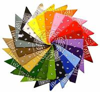 New paisley Unisex pure cotton square bandana scarf SQUARE PAISLEY design