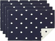 Kate Spade New York Charlotte St Navy White Polka Dot Placemat Set of 4