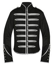 Handmade Men Black Parade Military Marching Banned Drummer Jacket Goth Punk Emo