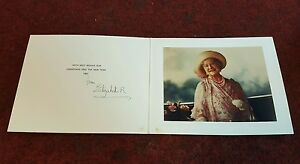 Royal Christmas Card Signed by Queen Elizabeth R Queen Mother