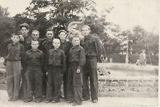 Handsome teen boys school uniform Russian Soviet vtg photo
