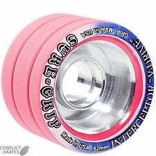 "SURE-Grip ""Interceptor"" due ruote x8 Rosa Roller Derby Indoor 93a 62mm"