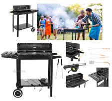 bbq barbecue xxl a carbone carbonella grill da giardino regolabile con ripiano