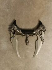 Stainless Steel 2 Blade Fantasy Dragon Slayer Goth Knife ( Excellent Hand Grip