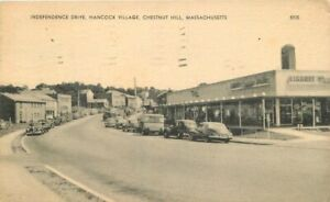 American 1954 Chestnut Hill Massachusetts Independence Hancock Postcard 21-1815