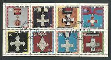Equatorial Guinea Coronation 25th Anniv - MEDALS set of 8 stamp sheet (3)